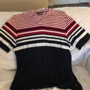 RL Polo Golf.  Size L  Athletic Fit.  Striped.